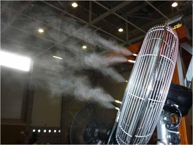 Вентилятор с туманом